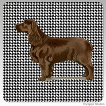 Field Spaniel Houndstooth Coasters