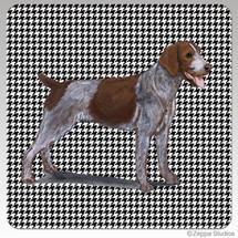 German Wirehaired Pointer Houndzstooth Coasters