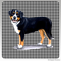 Greater Swiss Mtn Dog Houndzstooth Coasters