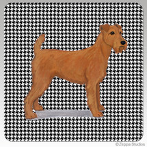 Irish Terrier Houndzstooth Coasters