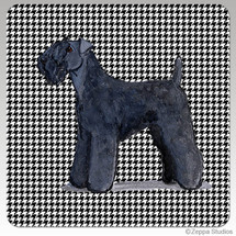 Kerry Blue Terrier Houndzstooth Coasters