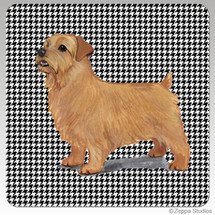 Norfolk Terrier Houndzstooth Coasters