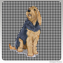 Otterhound Houndzstooth Coasters