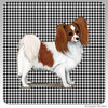 Red and White Papillon Houndzstooth Coasters