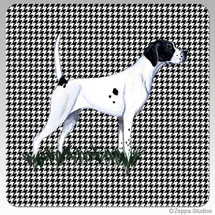 Pointer Houndzstooth Coasters