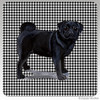 Black Pug Houndzstooth Coasters
