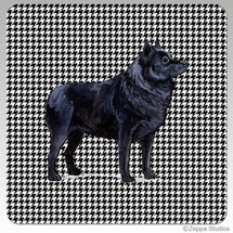 Schipperke Houndzstooth Coasters - Rectangle