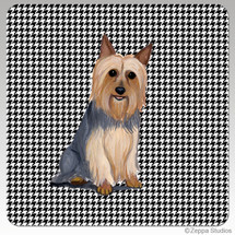 Silky Terrier Houndzstooth Coasters
