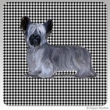 Skye Terrier Houndzstooth Coasters - Rectangle