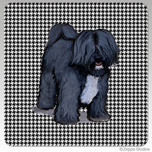 Tibetan Terrier Houndzstooth Coasters - Rectangle