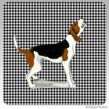 Treeing Walker Coonhound Houndzstooth Coasters - Rectangle