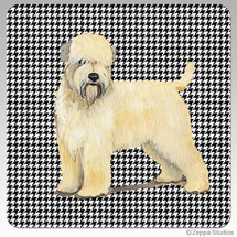 Wheaten Terrier Houndzstooth Coasters