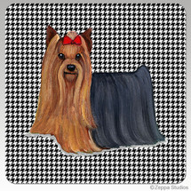 Yorkshire Terrier Houndzstooth Coasters