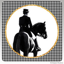 Dressage Houndzstooth Coasters