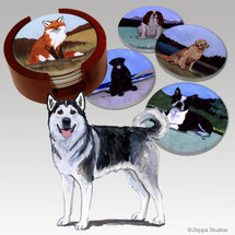 Alaskan Malamute Bisque Coaster Set