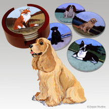 American Cocker Spaniel Bisque Coaster Set