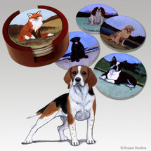 Beagle Bisque Coaster Set