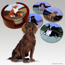 Boykin Spaniel Bisque Coaster Set