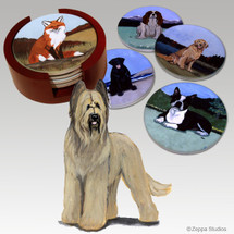 Briard Bisque Coaster Set