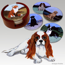 Cavalier King Charles Spaniel Bisque Coaster Set