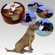 Chesapeake Bay Retriever Bisque Coaster Set