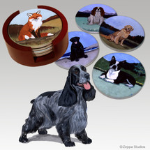 English Cocker Spaniel Bisque Coaster Set