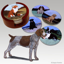 German Wirehaired Pointer Bisque Coaster Set