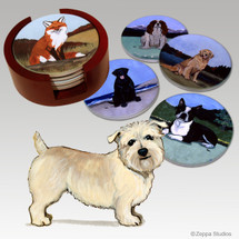 Glen of Imaal Terrier Bisque Coaster Set