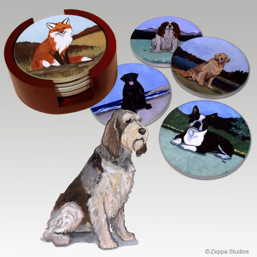 Italian Spinone Bisque Coaster Set -