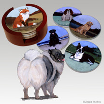Keeshond Bisque Coaster Set