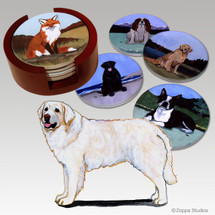 Kuvasz Bisque Coaster Set