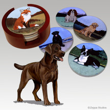 Labrador Retriever, Chocolate Bisque Coaster Set