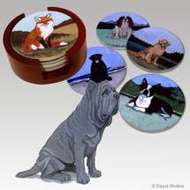 Neopolitan Mastiff Bisque Coaster Set