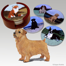 Norfolk Terrier Bisque Coaster Set
