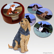 Otterhound Bisque Coaster Set