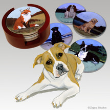 Pit Bull Bisque Coaster Set