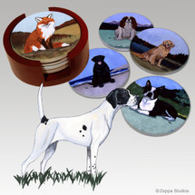 Pointer Bisque Coaster Set