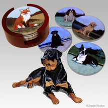 Rottweiler Bisque Coaster Set