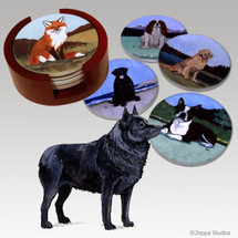Schipperke Bisque Coaster Set