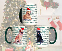 Grand Basset Griffon Vendeen Christmas Mugs