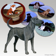 Lacy Dog Bisque Coaster Set