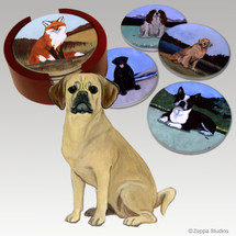 Puggle Bisque Coaster Set