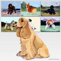 Buff Cocker Spaniel Scenic Mouse Pads