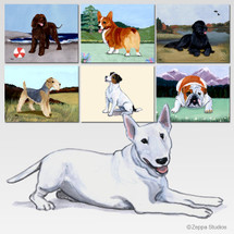 Bull Terrier Scenic Mouse Pad