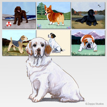 Clumber Spaniel Scenic Mouse Pad