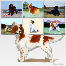 Irish Red n White Setter Scenic Mouse Pad