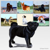Black Pug Scenic Mouse Pads