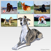 Whippet Scenic Mouse Pad - Rectangle