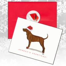 Redbone Coonhound Christmas Cards