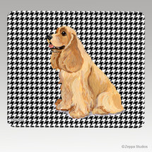 American Cocker Spaniel Houndstooth Mouse Pad
